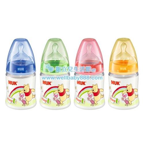 ~衛立兒 館~NUK 迪士尼寬口徑PP奶瓶150ml~附寬口徑矽膠奶嘴1號~中圓洞~ ~