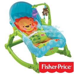費雪牌 Fisher-Price 可愛動物可攜式兩用安撫躺椅,多功能輕便搖椅746775042264★衛立兒生活館★
