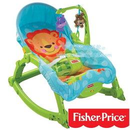 費雪 Fisher 可愛動物可攜式兩用安撫躺椅 多功能輕便搖椅