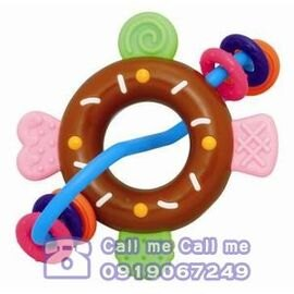 Toyroyal樂雅-甜甜圈手搖鈴 0