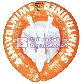 ★衛立兒生活館★德國SWIMTRAINER Classic Freds兒童學習游泳圈 2-6歲 (15-30kg)【橘色】贈打氣筒1支(隨機出貨)
