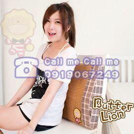 【奶油獅】授權正品 台灣製造歡笑格紋涼夏紙纖護腰墊(二入) 0