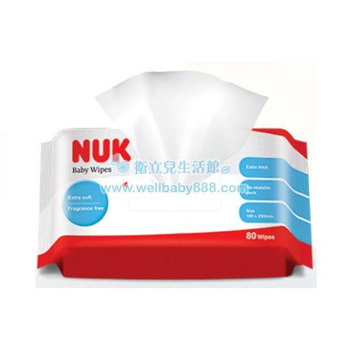 ★衛立兒生活館★NUK 新 加厚型柔濕巾(80抽)/單包