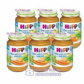 ★衛立兒生活館★喜寶 Hipp 天然胡蘿蔔小牛肉飯全餐/6罐 贈好禮
