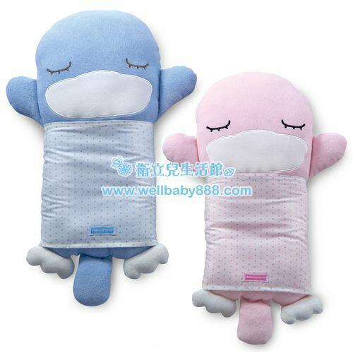 ★衛立兒生活館★KUKU酷咕鴨 抱抱護頭枕【藍色/粉色】