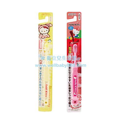★衛立兒生活館★日本進口 Hello Kitty 兒童牙刷-(0.5~3歲 / 3~6歲) - 限時優惠好康折扣