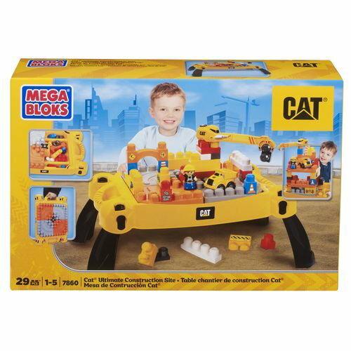 ~衛立兒 館~MEGA BLOKS MEGA~CAT工程積木遊戲桌~29PCS ~  好康