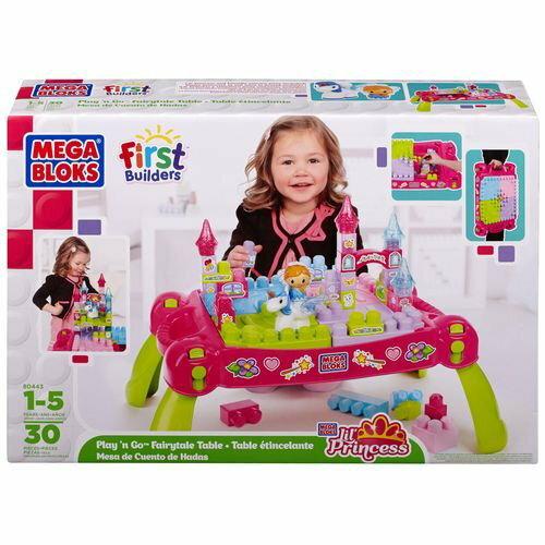 ★衛立兒生活館★MEGA BLOKS MEGA城堡積木遊戲桌-30PCS