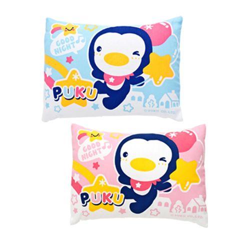 ★衛立兒生活館★藍色企鵝PUKU 舒眠寶寶枕(水色/粉色)P133132