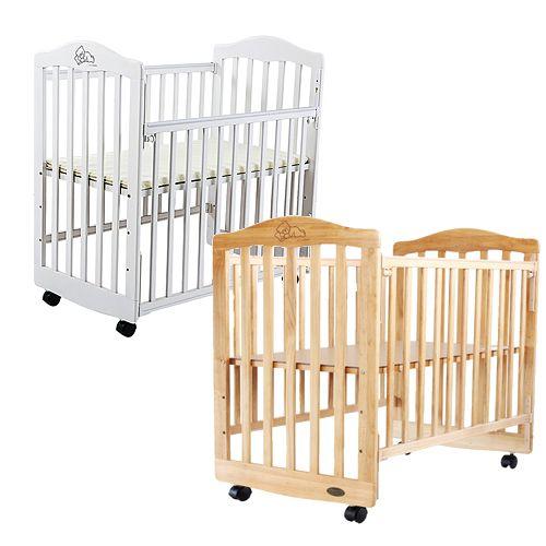 ~衛立兒 館~L.A. Baby 美國加州貝比 蒙特維爾小床嬰兒床 實木 原木床^(咖啡色