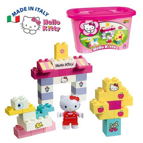 ★衛立兒生活館★Unico Hello Kitty-可愛巧巧鳥組積木-73pcs