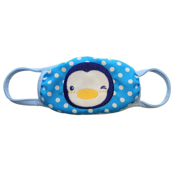 ~衛立兒 館~藍色企鵝PUKU派對保暖防塵口罩~藍色