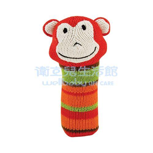 ★衛立兒生活館★Rich Frog 安撫玩具-針織啾啾棒(跳跳猴) - 限時優惠好康折扣