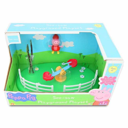 ★衛立兒生活館★【Peppa Pig】粉紅豬小妹可愛遊樂場組-蹺蹺板PE05329 - 限時優惠好康折扣