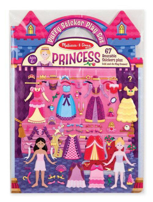 ~衛立兒 館~美國瑪莉莎 Melissa   Doug 可重複貼泡泡貼紙遊戲書~公主的皇宮