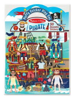 ★衛立兒生活館★美國瑪莉莎 Melissa & Doug 可重複貼泡泡貼紙遊戲書-海盜尋寶冒險