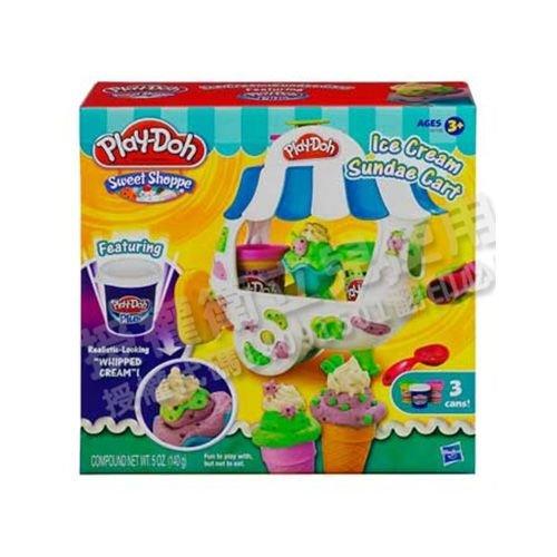 ★衛立兒生活館★Play-Doh 培樂多 聖代冰淇淋車遊戲組