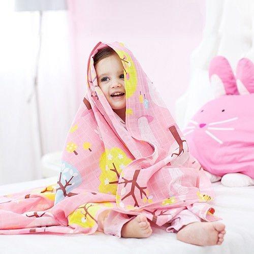 ★衛立兒生活館★Milo & Gabby 動物好朋友-超輕量Muslin空氣毯(LOLA兔兔)