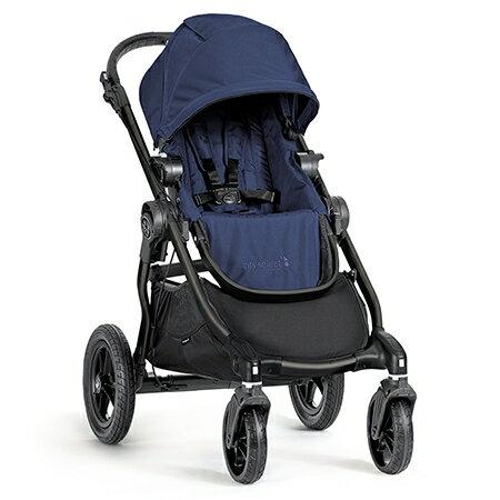 Babyjogger-Cityselect(黑管)全能單雙人推車-藍(第二座椅需另購)【悅兒園婦幼生活館】