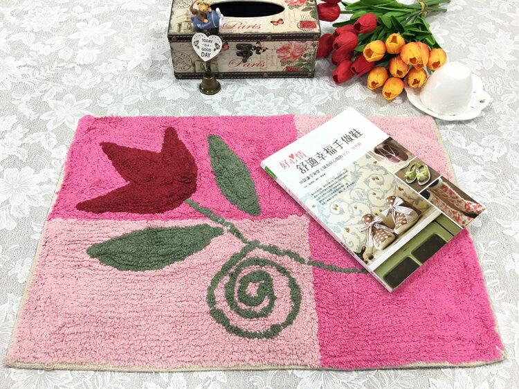 田園和風腳踏墊/鄉村風格拼布毯/地毯腳踏墊【綠居布屋】印度棉-野百合