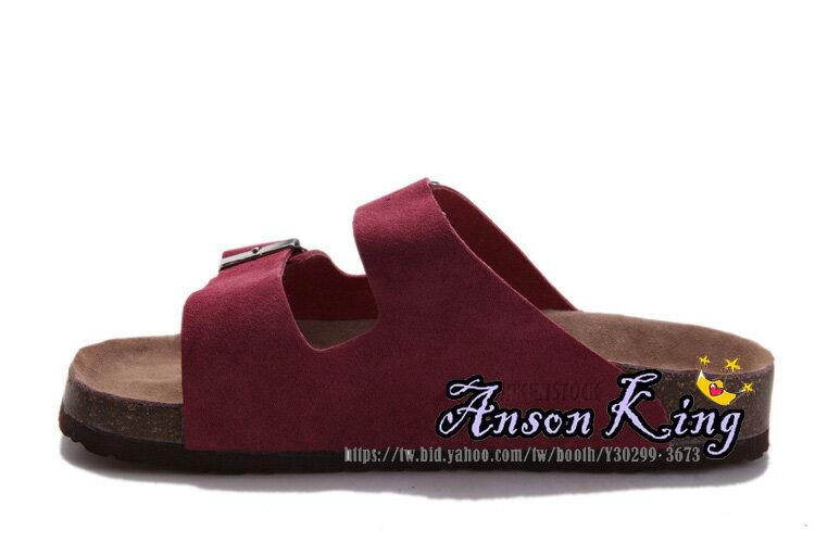 [Anson King]Outlet正品代購  birkenstock Arizona系列 男女款 懶人涼拖鞋 酒紅 1