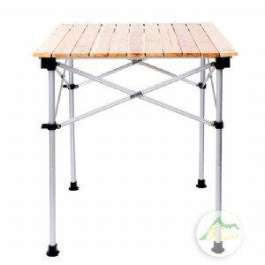 【露營趣】中和安坑 GO SPORT 92347-OT 四人木捲桌 兩段高低 蛋捲桌 鋁捲桌 休閒桌 摺疊桌 野餐桌