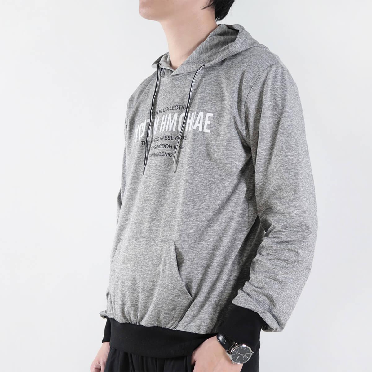 微刷毛紋理保暖帽T 連帽T恤 休閒連帽外套 長袖T恤 帽子T恤 連帽上衣 長袖上衣 休閒長TEE 灰色T恤 黑色T恤 LIGHT FLEECE LINED WARM HOODIE T-shirt (312-6071-21)黑色、(312-6071-22)灰色 XL 單一尺寸(胸圍46~48英吋) [實體店面保障] sun-e 3