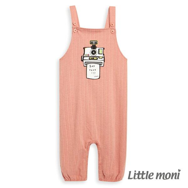 Littlemoni拍立得吊帶連身褲-粉紅