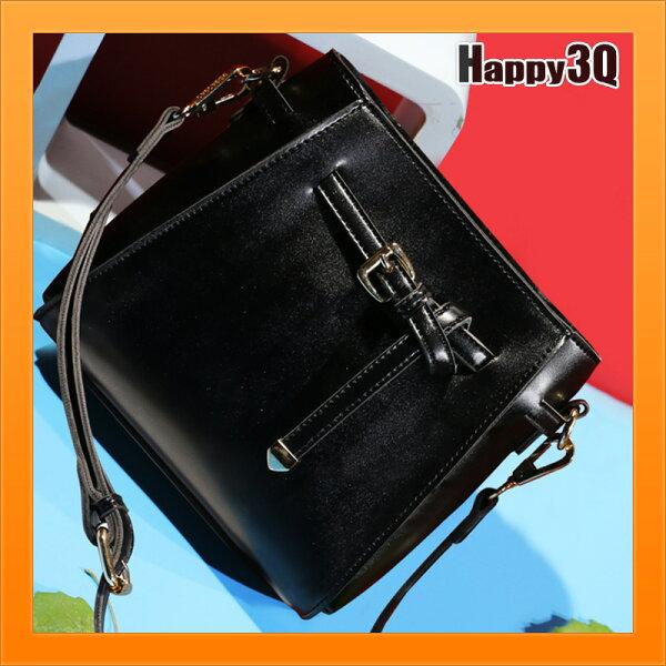 斜背包手提包女生包手提包通勤包百搭素面仿真皮素色包-黑綠【AAA4670】
