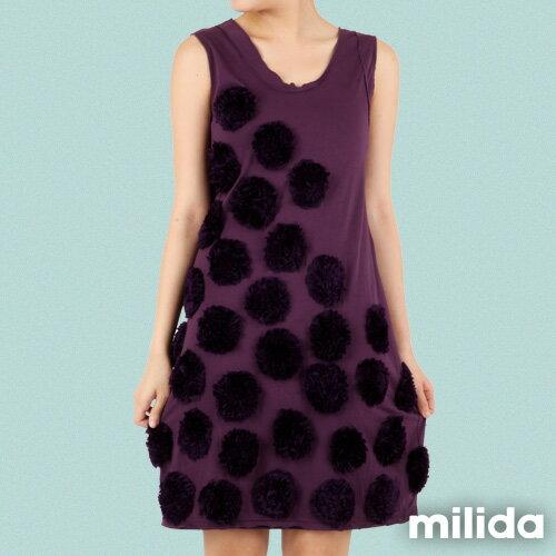 【Milida,全店七折免運】-早春商品-無袖款-獨家設計洋裝 5