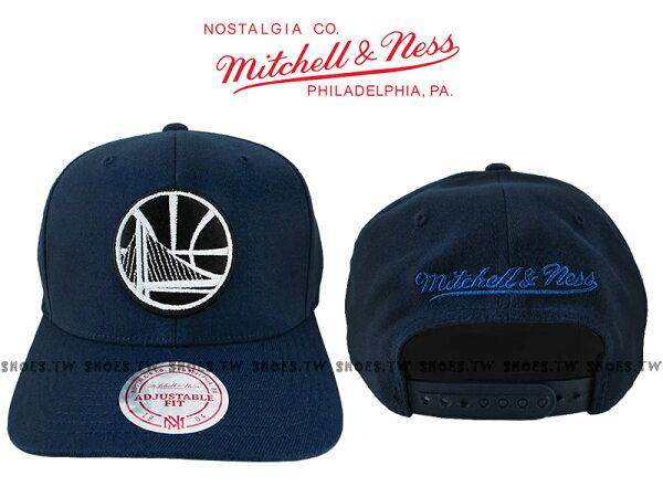 《下殺6折》Shoestw【5056036145791】Mitchell&Ness老帽SNAPBACK勇士隊深藍色硬版