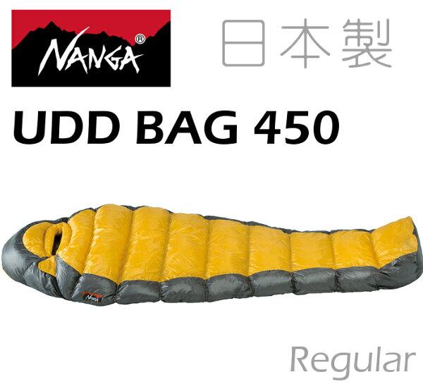 Nanga日本製羽絨睡袋登山睡袋UDD450法國頂級白鴨絨770FP撥水處理24445黃