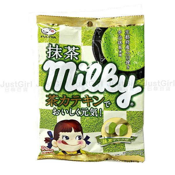 不二家 抹茶牛奶糖 宇治抹茶 22顆 食品 日本製造進口 JustGirl