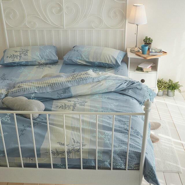 床包被套組 / 雙人【上野之森-夏風 】含兩件枕套四件組,精梳棉 / 台灣製 絲薇諾 2