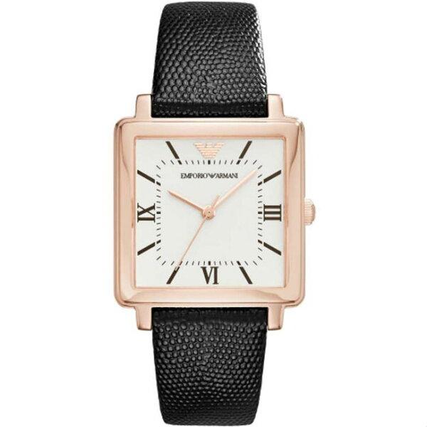 大高雄鐘錶城:EMPORIOARMANIAR11067亞曼尼方形時尚雅痞腕錶白面30*26mm
