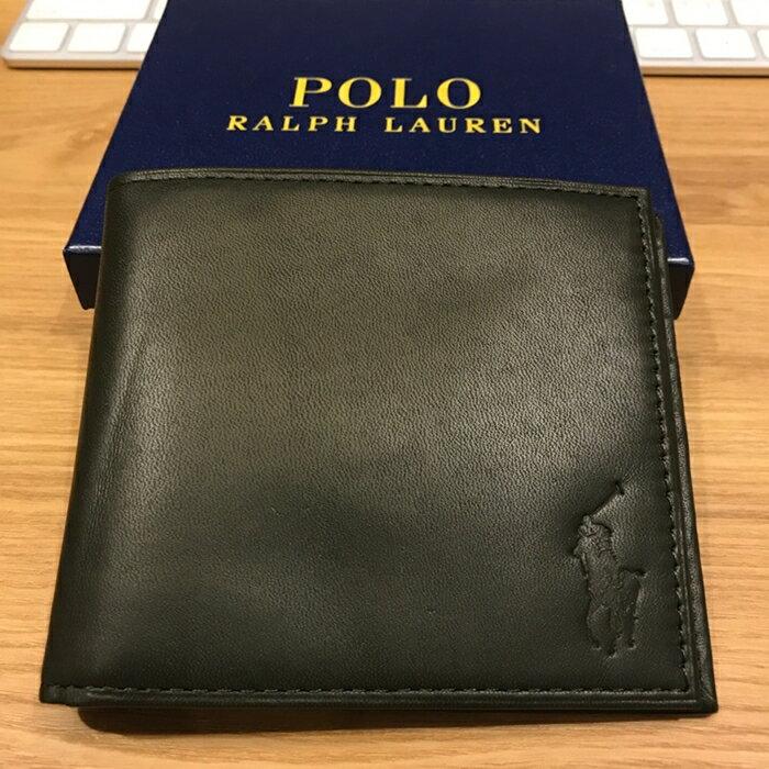 秋冬新色 POLO RALPH LAUREN RL 牛皮 短夾 保證正品專櫃貨