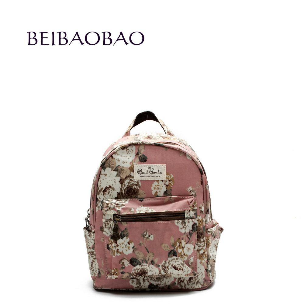 【BEIBAOBAO】粉色花漾親子包( 大+中+小  共三個) 2