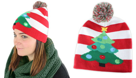 Lotsa Lites Flashing Holiday Knitted Hats 1