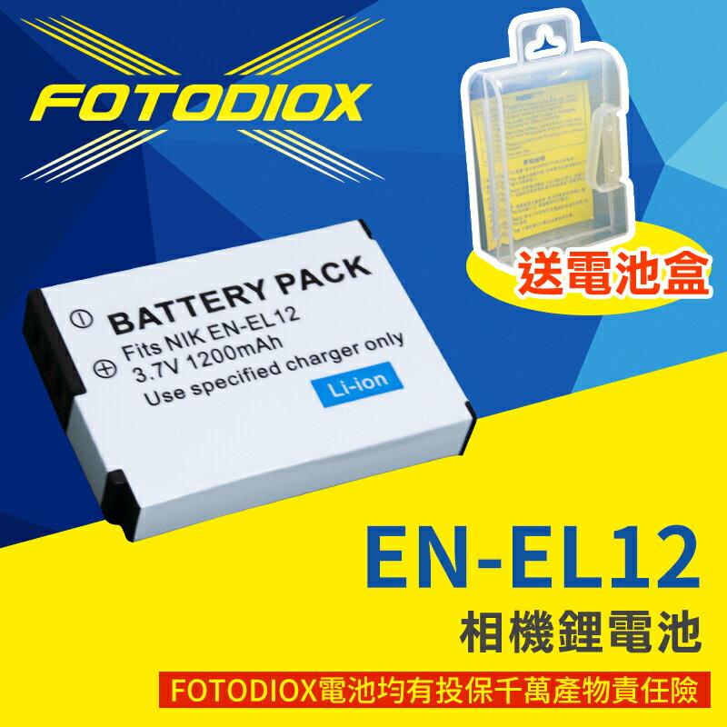 [享樂攝影]FOTODIOX 保半年 Nikon EN-EL12 for P300 P310 副廠電池 ENEL12 相機鋰電池 Coolpix P310 S9300 S9200 AW100 S615..