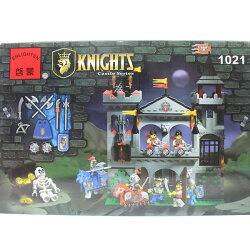 啟蒙積木 1021 飛鷹城堡積木 約568片入/一盒入{促1580} 中古世紀城堡系列~跟樂高一樣好玩喔!~東匯