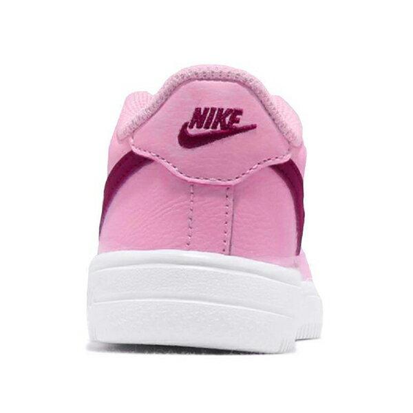 Shoestw【905220-605】NIKE FORCE 1 '18 (TD) 休閒鞋 皮革 鬆緊帶 免綁鞋帶 粉紅紫勾 小童鞋 2