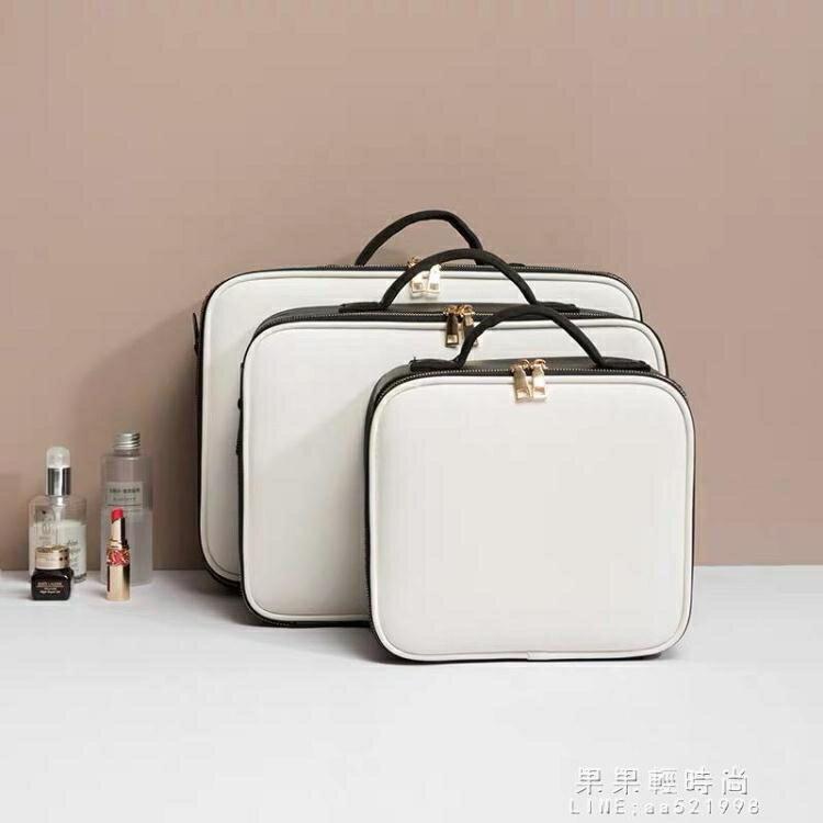 化妝箱手提家用便攜女化妝包多功能雙層跟妝護膚品包收納盒大容量 凡卡時尚
