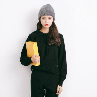 [全店免運] 短款連帽套頭休閒毛衣連帽 針織衫 / 樂天時尚館