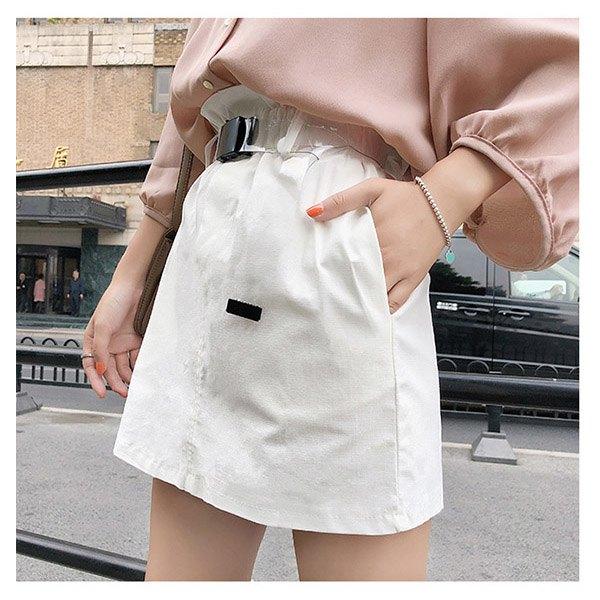 短裙素色鬆緊腰A字裙包臀休閒短裙【NDF6532】BOBI0614
