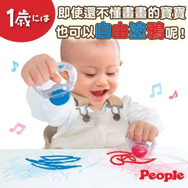 日本People-趣味蠟筆手搖鈴(1歲) 398元