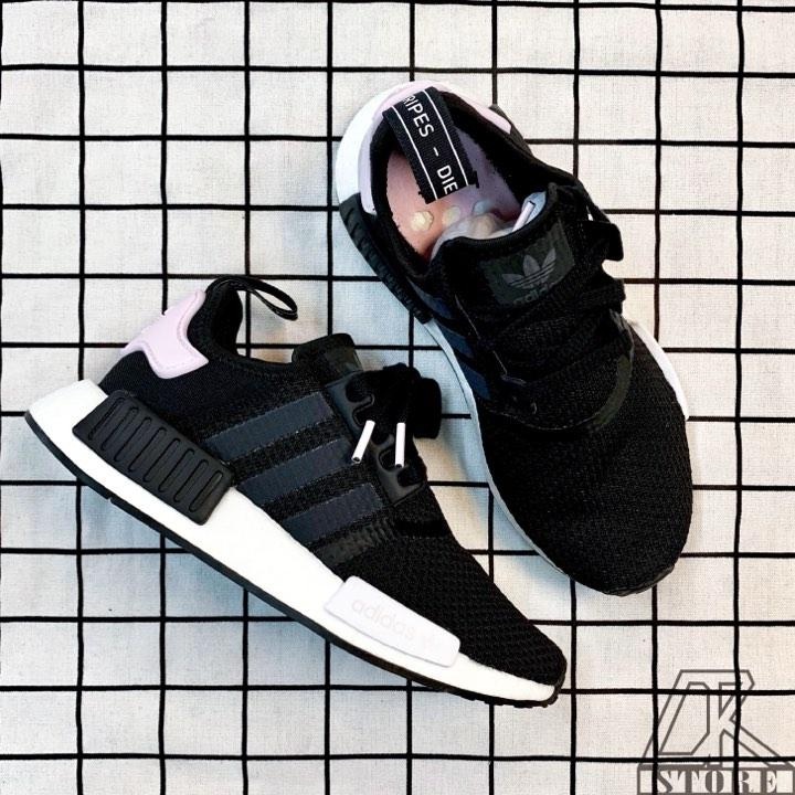免運🚗-DTK-實體店面🎖現貨 Adidas Original NMD_r1 黑白粉尾 黑粉配色B37649 0
