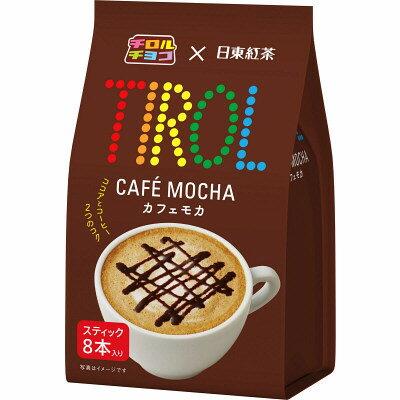 日東TIROL咖啡摩卡8入 (88g) 三井農林 ???×日東紅茶 ????? 8本入 即溶咖啡沖包粉隨身包