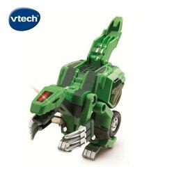 ★Vtech系列滿$1999再送收納箱★ 美國【Vtech】聲光變形恐龍車-鐮刀龍-托爾