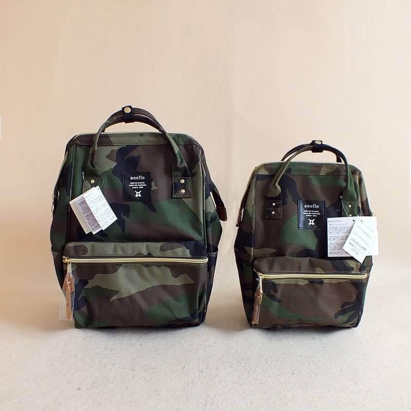 【日本anello】ANELLO 雙肩後背包 《大號》- 綠迷彩 5