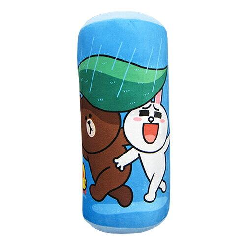 【享夢城堡】圓筒枕-LINEFRIENDS一起躲雨(小)